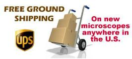 Free shipping on new microscope